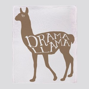 Drama Llama Throw Blanket